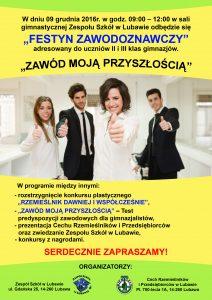 """IV edycja Festynu Zawodoznawczego """"ZAWÓD MOJĄ PRZYSZŁOŚCIĄ""""."""